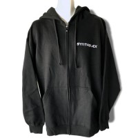 Black Hoodie Sweatshirt with Embroidered One Color logo
