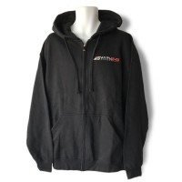 Black Hoodie Sweatshirt with Embroidered Two-Color logo