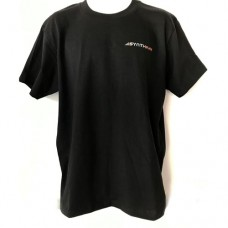 Synthplex Black T-Shirt with two color logo